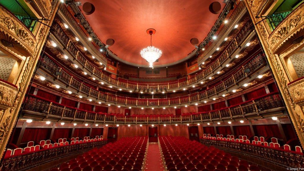 Foto interior del Teatro Español actualmente.